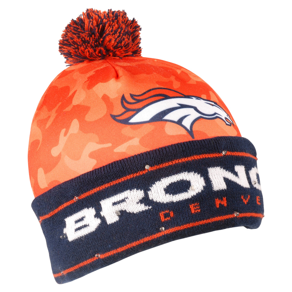 Denver Broncos Official NFL Camouflage Light Up Printed Beanie