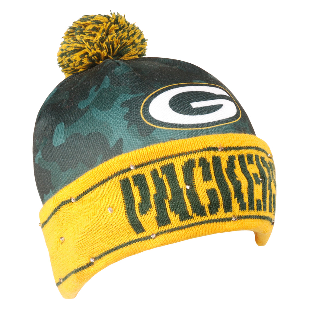 Green Bay Packers Official NFL Camouflage Light Up Printed Beanie