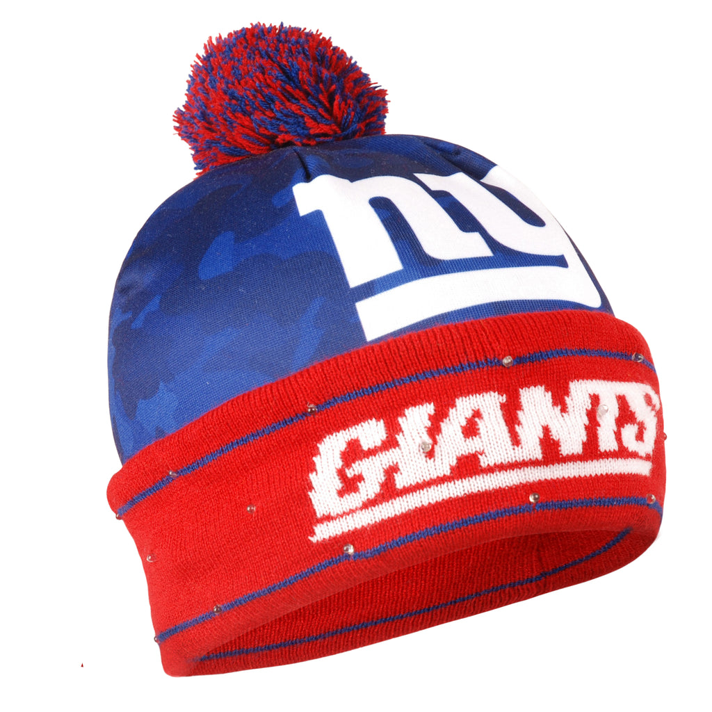 d1c260ed60d sweden new york giants official nfl camouflage light up printed beanie  fe79c 600f7