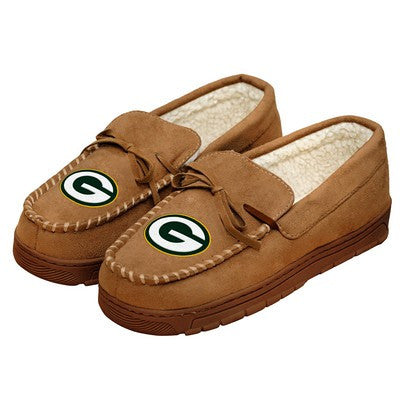 Green Bay Packers   Official NFL Mens Moccasin Slippers