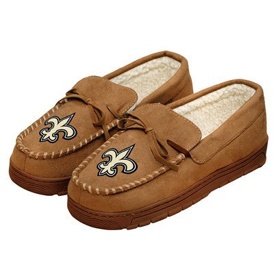 New Orleans Saints   Official NFL Mens Moccasin Slippers