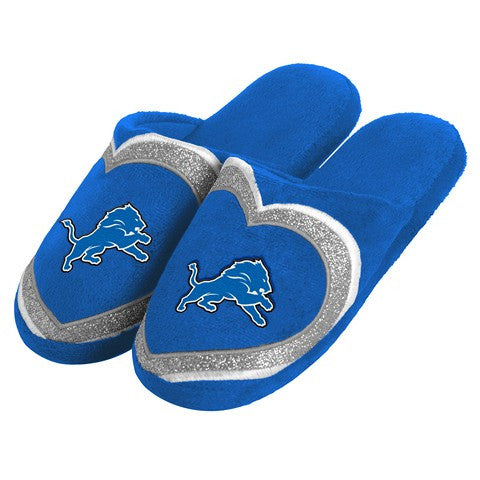 Detroit Lions Official NFL Womens Glitter Slide Slippers