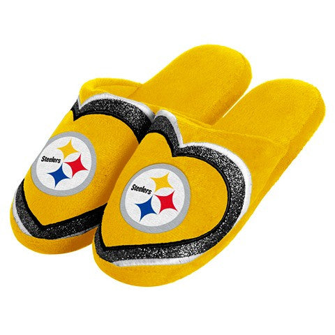 Pittsburgh Steelers Official NFL Womens Glitter Slide Slippers