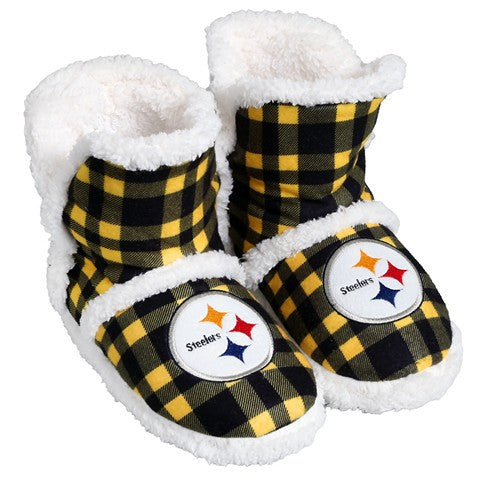 Pittsburgh Steelers Official NFL Flannel Sherpa Boots