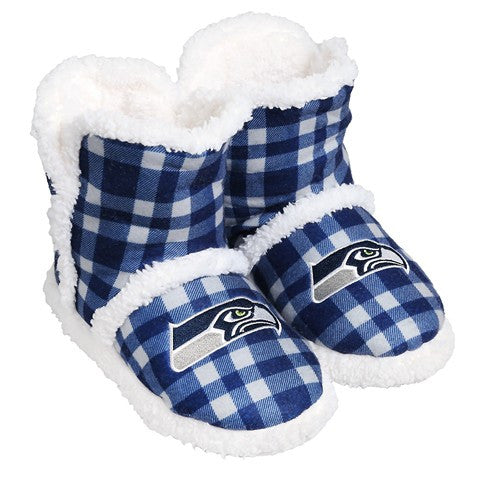 Seattle Seahawks Official NFL Flannel Sherpa Boots
