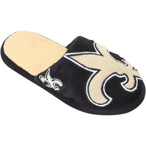 New Orleans Saints Official NFL Youth 8-16 Split Color Slide Slipper