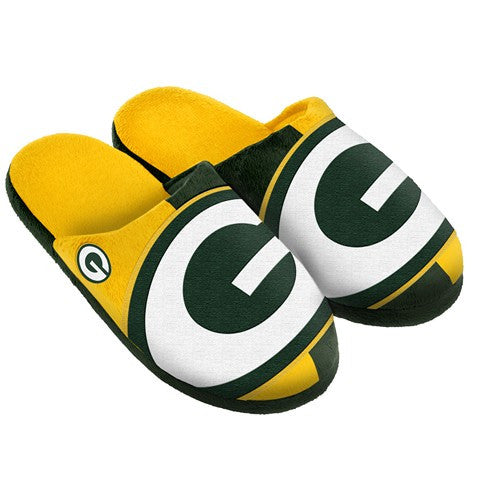 Green Bay Packers Official NFL Split Color Slide Men'S Slippers