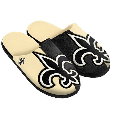 New Orleans Saints Official NFL Split Color Slide Men'S Slippers