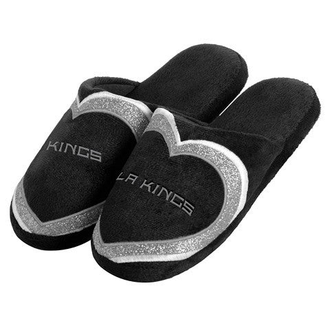 Los Angeles Kings Official NHL Womens Glitter Slide Slippers