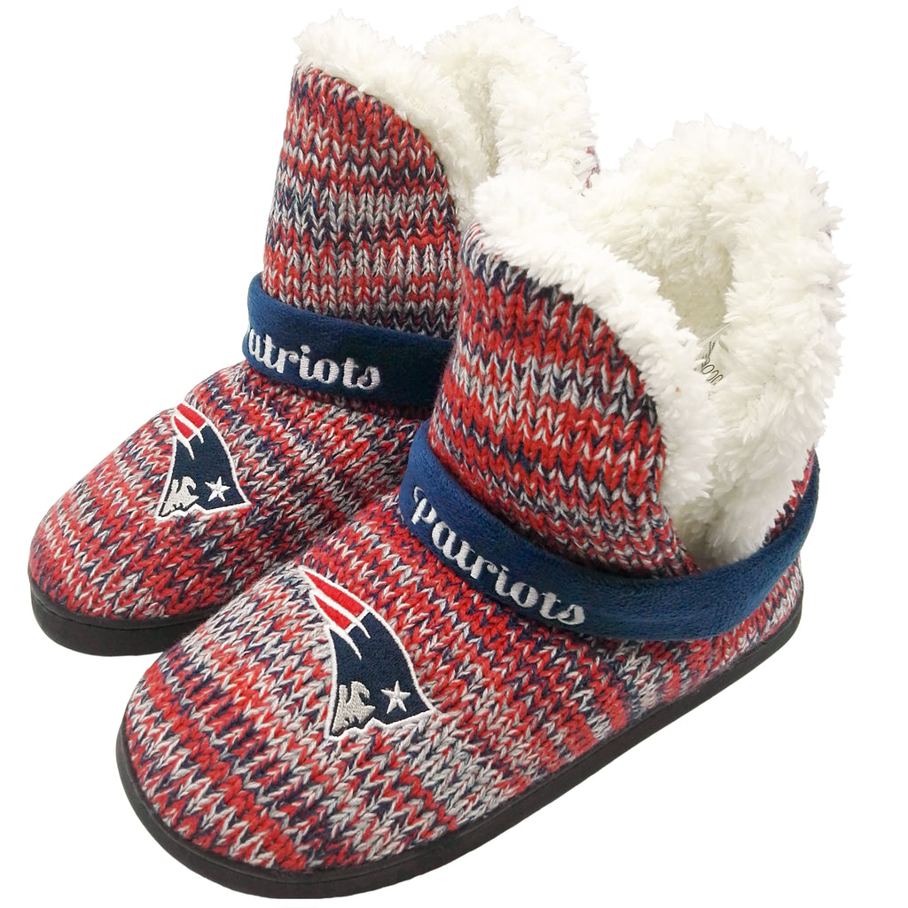 New England Patriots Official NFL Wordmark Peak Boot - Womens