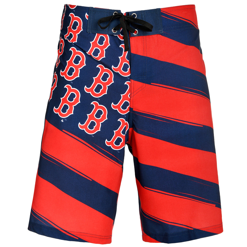 Boston Red Sox Official MLB Diagonal Flag Boardshort - Mens (PRE ORDER: SHIPS MID TO LATE MAY)