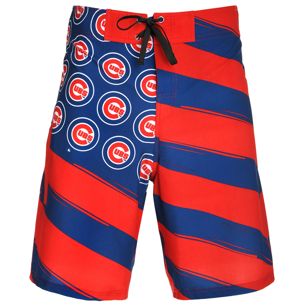 Chicago Cubs Official MLB Diagonal Flag Boardshort - Mens (PRE ORDER: SHIPS MID TO LATE MAY)