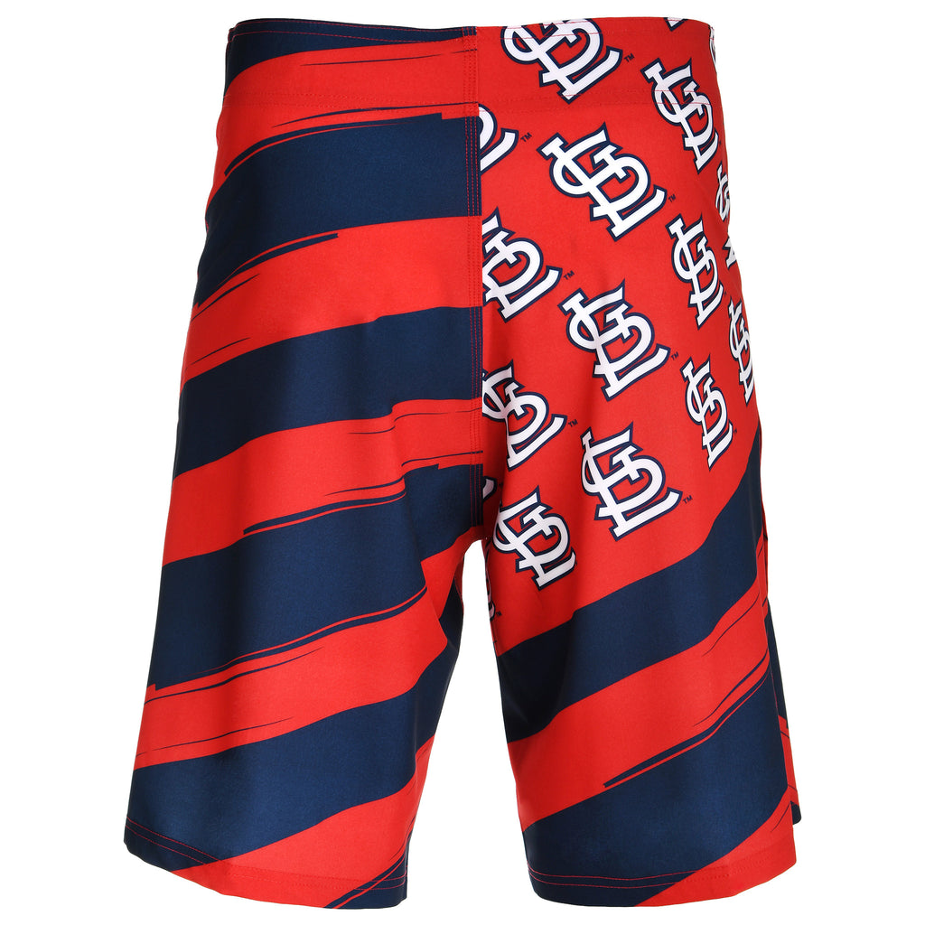 St Louis Cardinals Official MLB Diagonal Flag Boardshort - Mens