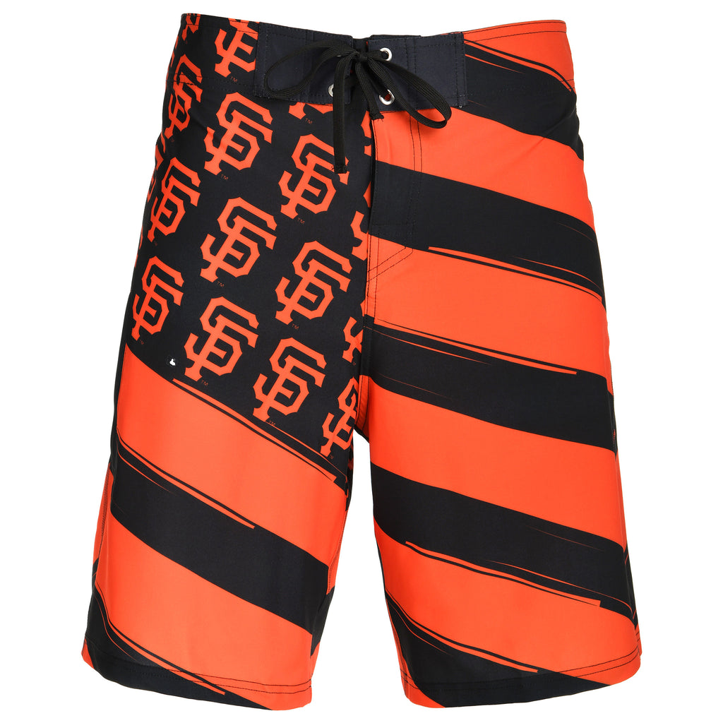 San Francisco Giants Official MLB Diagonal Flag Boardshort - Mens (PRE ORDER: SHIPS MID TO LATE MAY)