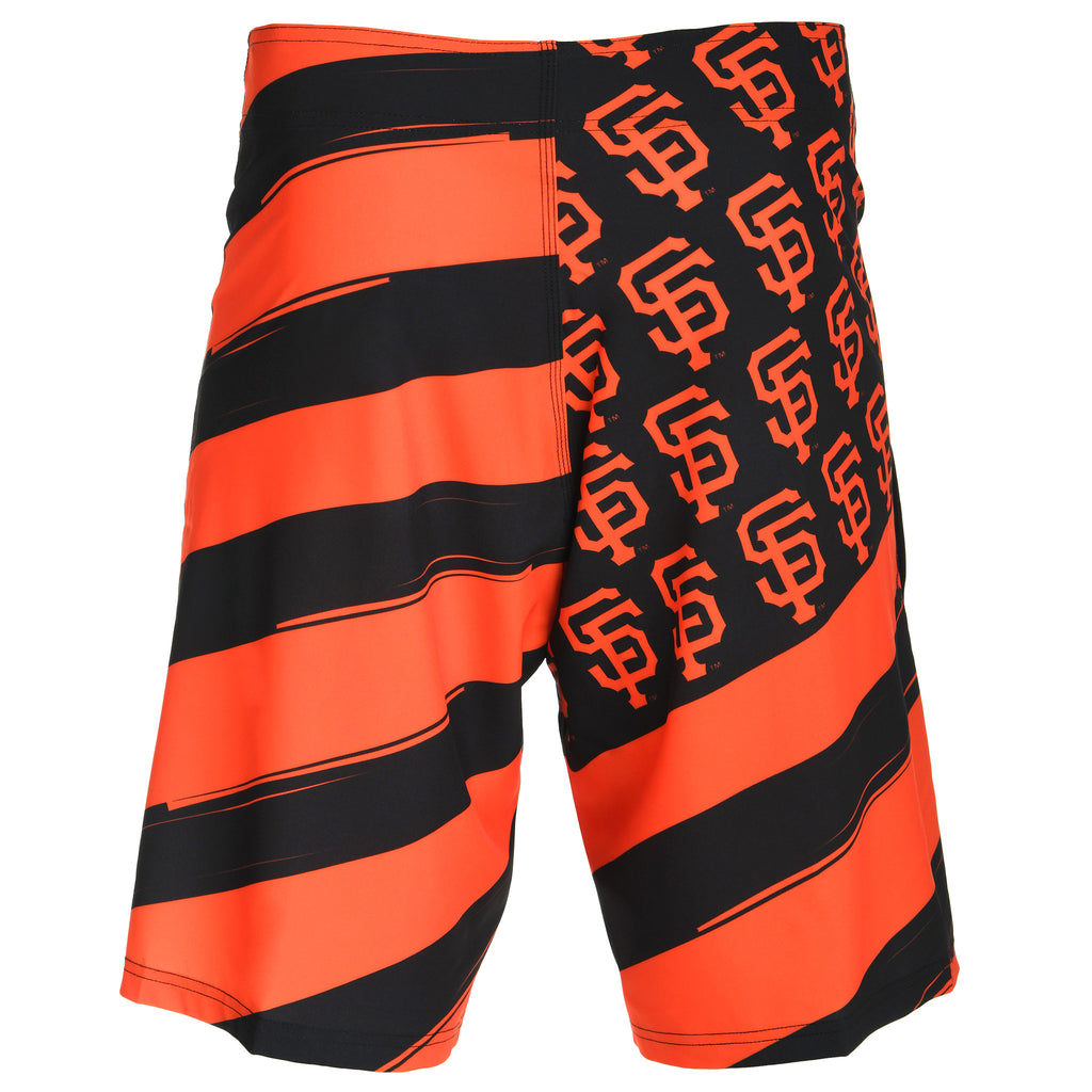 San Francisco Giants Official MLB Diagonal Flag Boardshort - Mens