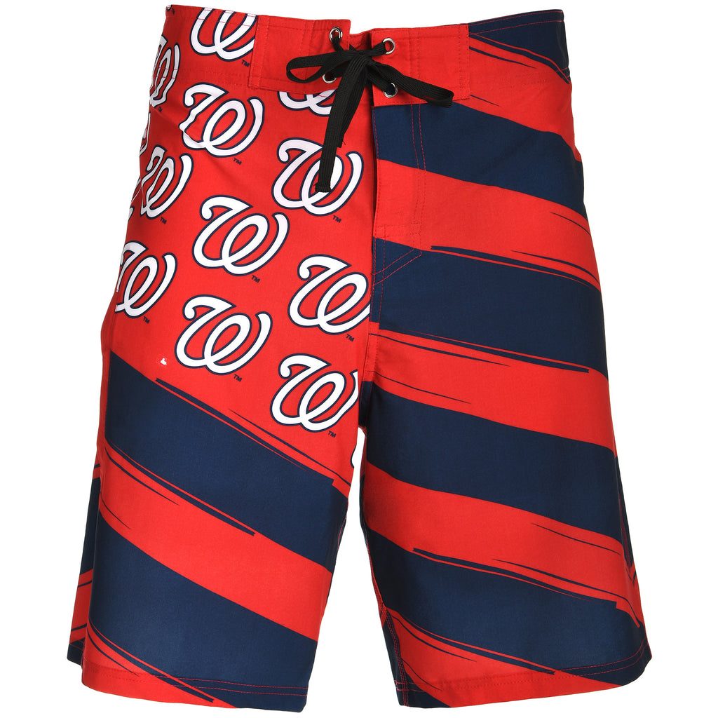 Washington Nationals Official MLB Diagonal Flag Boardshort - Mens (PRE ORDER: SHIPS MID TO LATE MAY)