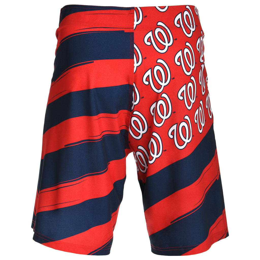 Washington Nationals Official MLB Diagonal Flag Boardshort - Mens