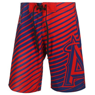 LOS ANGELES ANGELS Official MLB Stripes Boardshorts