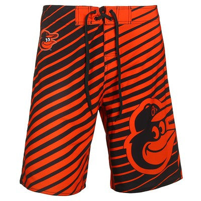 Baltimore Orioles Official MLB Stripes Boardshorts