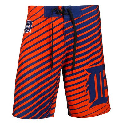Detroit Tigers Official MLB Stripes Boardshorts