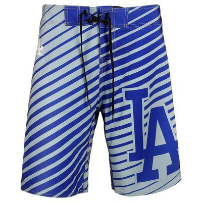 Los Angeles Dodgers Official MLB Stripes Boardshorts