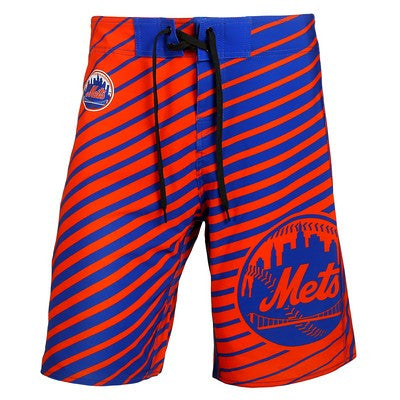 New York Mets Official MLB Stripes Boardshorts
