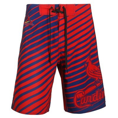St. Louis Cardinals Official MLB Stripes Boardshorts