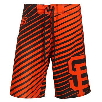 San Francisco Giants Official MLB Stripes Boardshorts