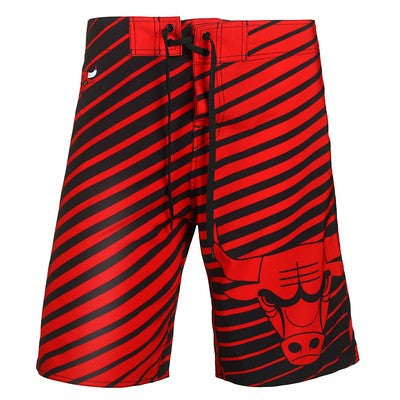 Chicago Bulls Official NBA Stripes Boardshorts