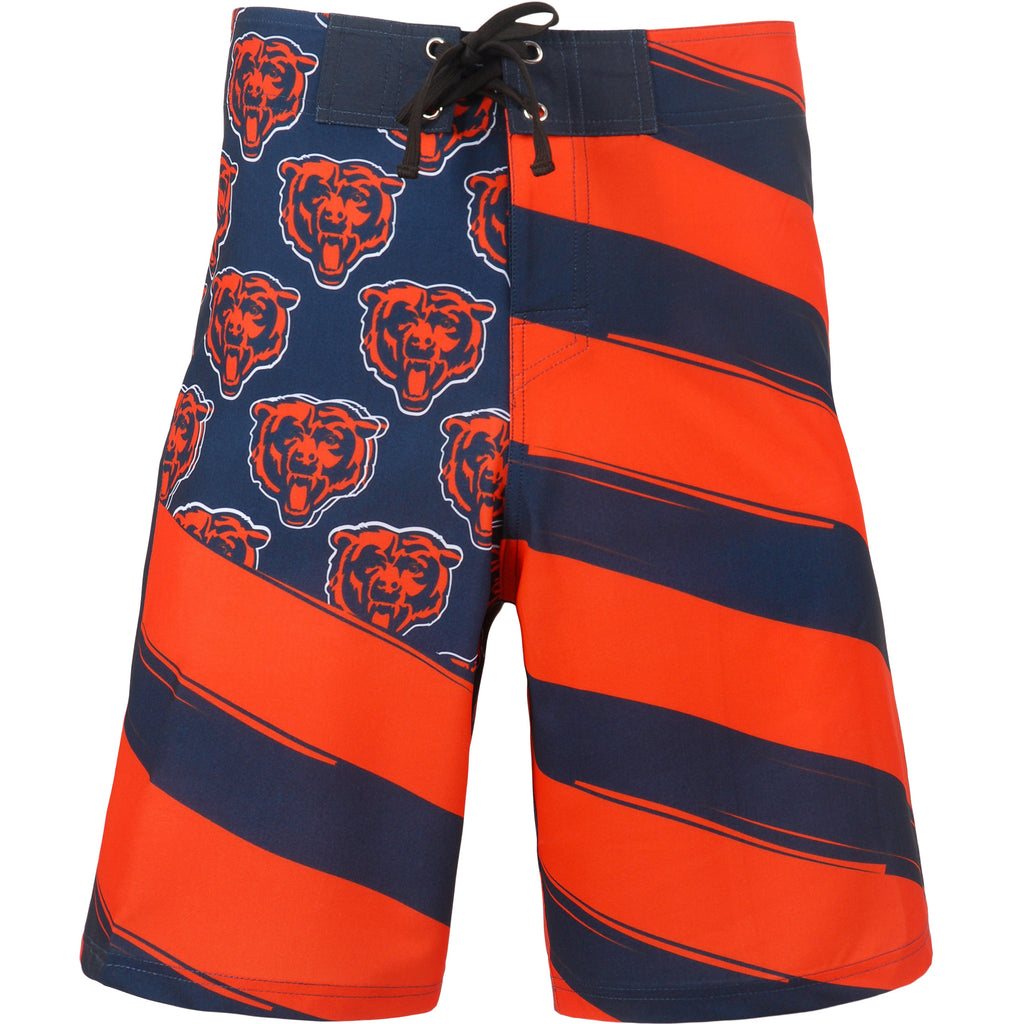 Chicago Bears Official NFL Diagonal Flag Boardshort - Mens (PRE-ORDER:  ARRIVES LATE MAY / EARLY JUNE:    )
