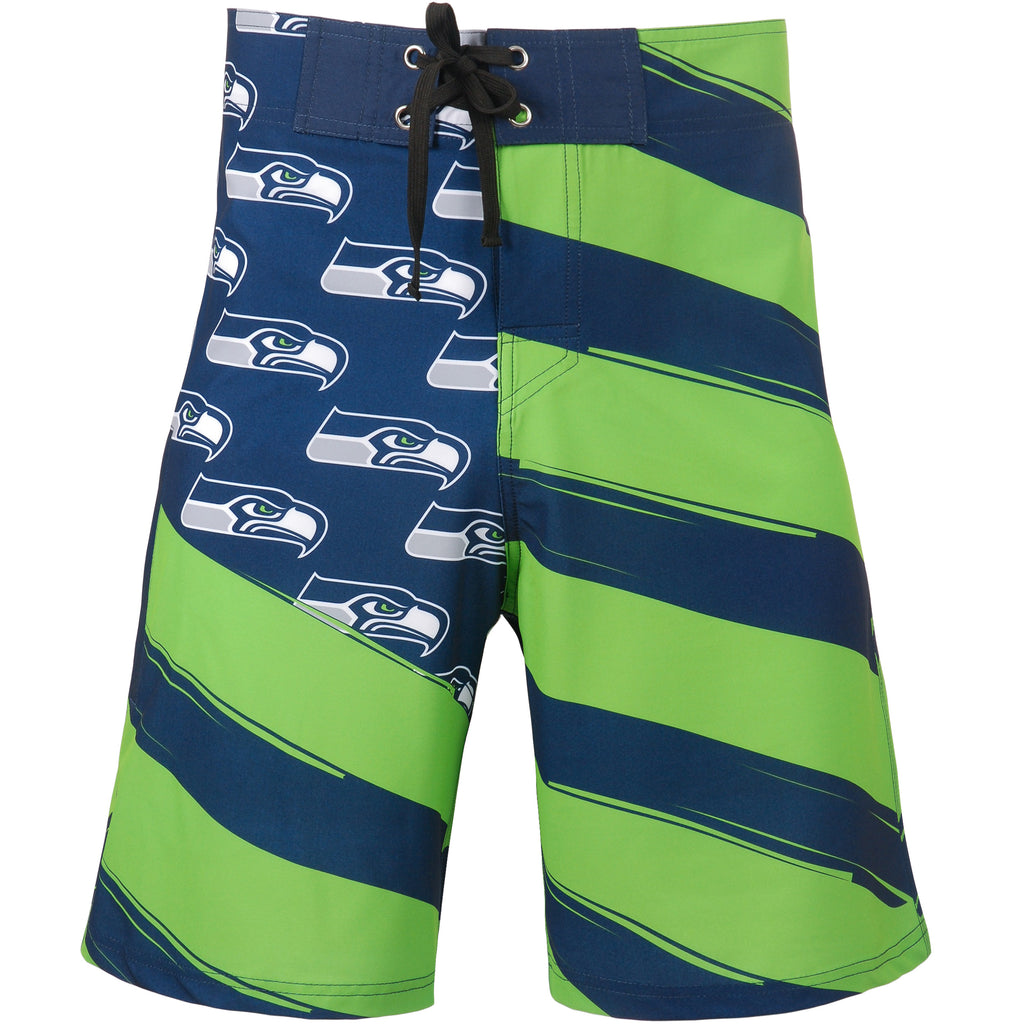 Seattle Seahawks Official NFL Diagonal Flag Boardshort - Mens (PRE-ORDER:  ARRIVES LATE MAY / EARLY JUNE:    )