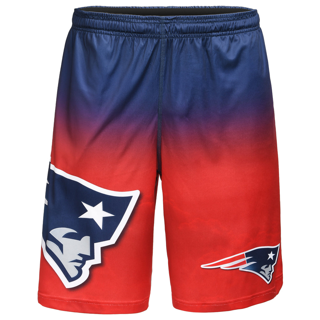 New England Patriots Official NFL Gradient Big Logo Training Short - Mens (PRE-ORDER:  ARRIVES MID TO LATE APRIL:    )
