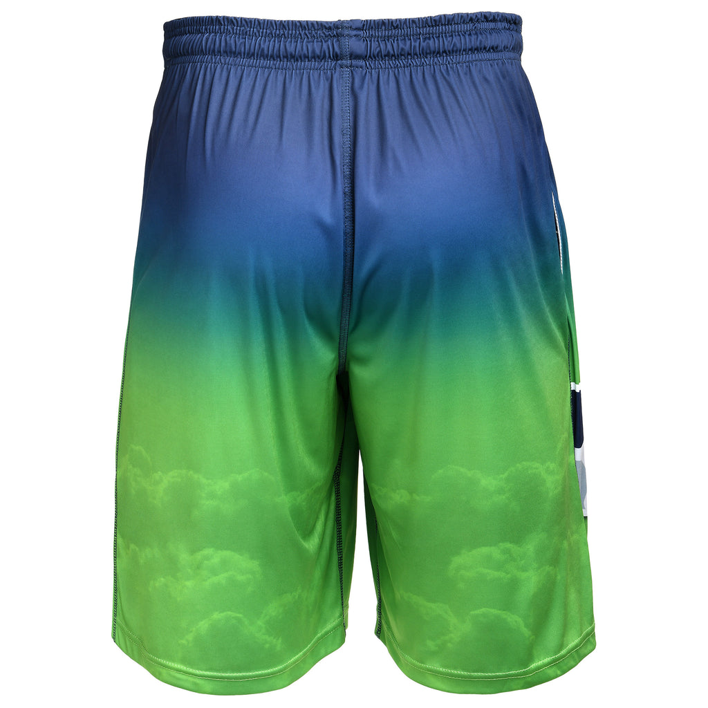 Seattle Seahawks Official NFL Gradient Big Logo Training Short - Mens