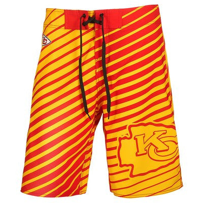 Kansas City Chiefs  Stripes BoardshortOfficial NFL Stripes Boardshorts
