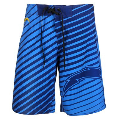 San Diego Chargers Official NFL Stripes Boardshorts