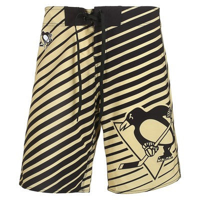 Pittsburgh Penguins Official NHL Stripes Boardshorts
