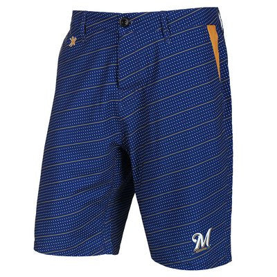 Milwaukee Brewers Official MLB Dots Walking Shorts