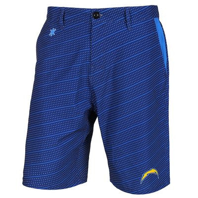 San Diego Chargers Official NFL Dots Walking Shorts