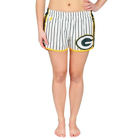 Green Bay Packers Official NFL Womens Pinstripe Short