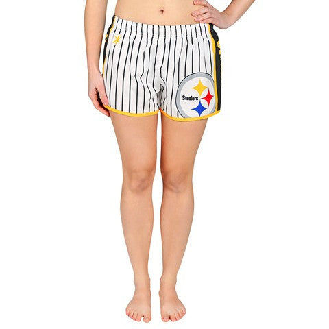Pittsburgh Steelers Official NFL Womens Pinstripe Short
