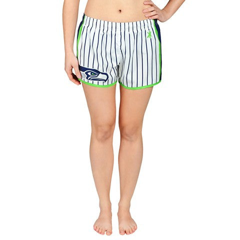 Seattle Seahawks Official NFL Womens Pinstripe Short