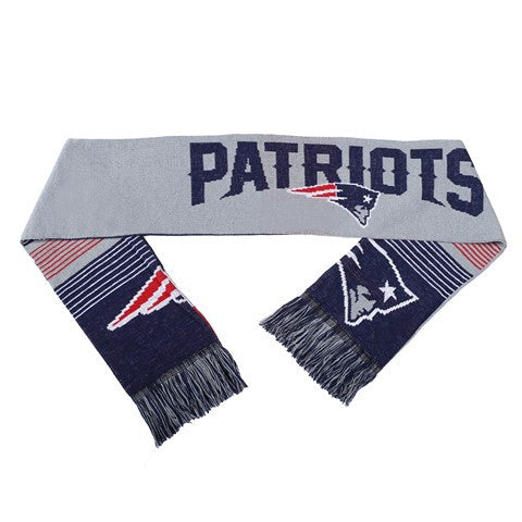 New England Patriots Reversible Split Logo Scarf