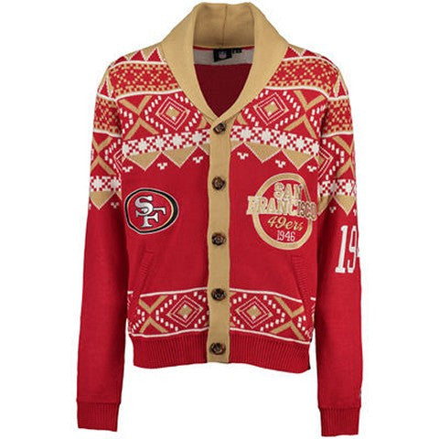 San Francisco 49Ers Official NFL 2015 Ugly Cardigan