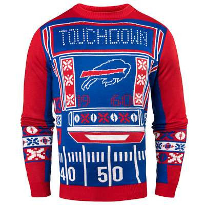 Buffalo Bills Official NFL Ugly Light Up Sweater