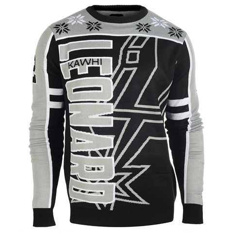 San Antonio Spurs Leonard K. #2 Official NBA 2015 Player Ugly Sweater