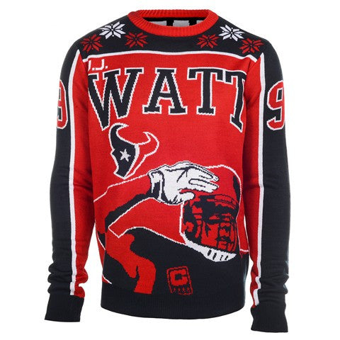 Houston Texans Watt J. #99 Official NFL 2015 Player Ugly Sweater
