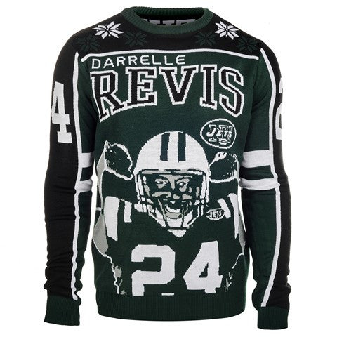 New York Jets Revis D. #24 Official NFL 2015 Player Ugly Sweater