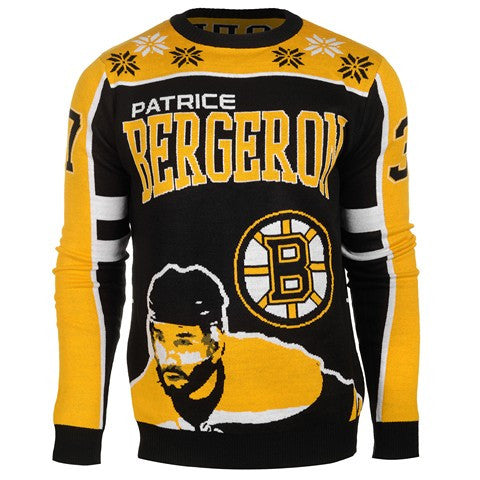 Boston Bruins Bergeron P. #37 Official NHL 2015 Player Ugly Sweater