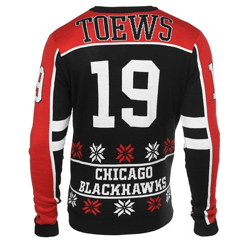 Chicago Blackhawks Toews J. #19 Official NHL 2015 Player Ugly Sweater