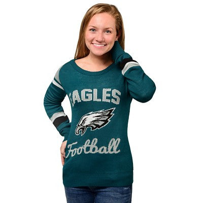 Philadelphia Eagles   Official NFL Official Nfl Glitter Scoop Neck Sweater (PRE-ORDER EXPECTED TO SHIP END OF OCTOBER)